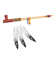 Indian pipe of peace vector