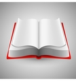 Open book on gray background vector