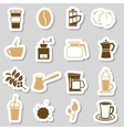 Coffee stickers vector