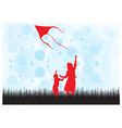 Fly kite vector