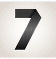 Number metal ribbon - 7 - seven vector
