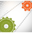 Colorful gears on gray background vector