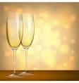 Glasses of champagne vector