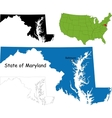 Maryland map vector