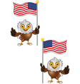 Bald eagle character 6 vector