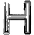 Grunge font letter h vector