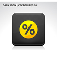 Sale percent icon gold vector
