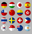 Set of flags icon vector