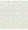 Seamless pattern with hand drawn doodle hearts vector