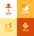 Set of signs and symbols chicken vector