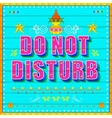 Do no disturb poster vector
