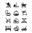Children and baby accessories vector