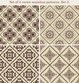 Set of 4 vintage seamless patternsset 3 vector