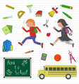 Back to school clipart set vector