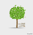 Abstract tree with green leaves vector