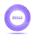 Hand drawn watercolor light violet circle design e vector