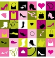Background of accessories vector