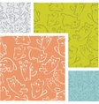 Cats and kittens - seamless pattern set vector