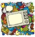 Retro tv background vector