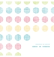 Abstract textile polka dots stripes frame corner vector