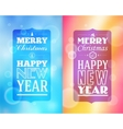 Holidays frame happy merry christmas - new year vector
