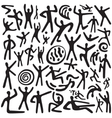 Dancing people - doodles set vector