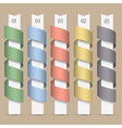Modern numbered colored ribbons banners vector