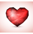 Red diamond jewel heart vector