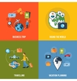 Travel concept flat icons composition vector
