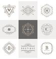 Set of monogram flourishes logo vector