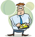 Businessman with tablet vector