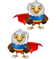 Super bald eagle character 1 vector