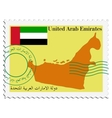 Mail to-from united arab emirates vector