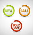 Round 3d icons for sale new and sold out items vector