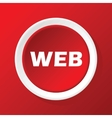 Web icon on red vector