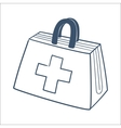 Doctors first aid kit isolated on white vector