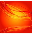 Orange wave curve background vector