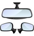 Car mirror set vector