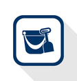 Pail shovel flat icon vector
