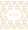 Abstract textile ikat yellow brown triangles frame vector