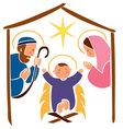 Baby jesus in a manger 7 vector