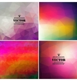 Set of four colorful abstract geometric background vector