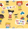Seamless kids background vector