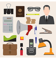 Flat icons office business collection set 1 vector