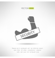 Arm with strong biceps security idea t-shirt vector