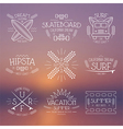 Surfing and vacation emblem vector