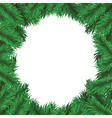 Christmas tree frame vector