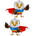 Super bald eagle character 3 vector