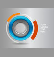 3d circle frame on a white background vector