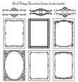 Set of vintage frames 36 vector
